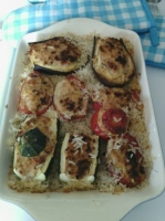 tomates, aubergines, courgettes farcies