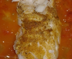 RAtatouille et dos de cabillaud au curry