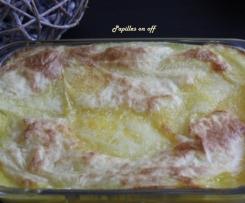 Hachis parmentier de poulet, pommes de terre et carottes au lait de coco