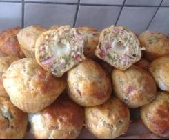Muffins ratatouille cœur fondant chèvre