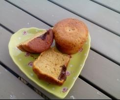 Muffins pistache au coeur chocolat
