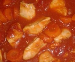 Poulet et sa sauce tomate bacon