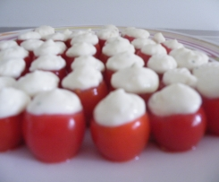 Bouchées tomate chèvre basilic