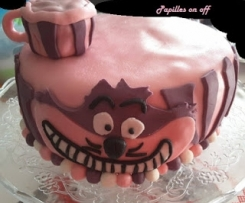 """Gâteau au chocolat carambar au thermomix ou sans - Sweet Table Alice au pays des merveilles de """"Non anniversaire"""""""