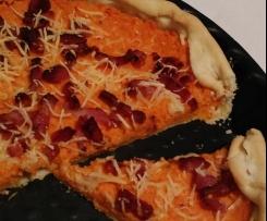 Tarte aux carottes et lardons