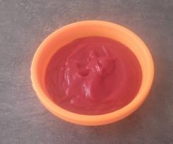 purée de betterave/pomme de terre/jambon bébé 6 mois
