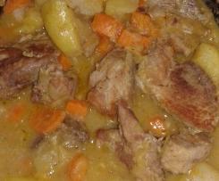Sauté de porc aux légumes d'hiver