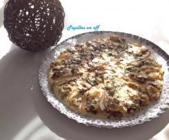 Pizza à la fourme d'ambert et aux poires