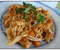 Poulet aux nouilles chinoises