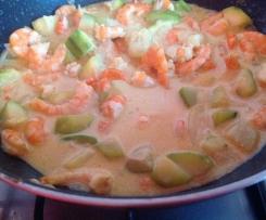 Crevettes au lait de coco et curry