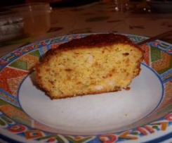Cake extra moelleux au jambon et oignons frits