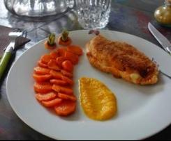 Cordon bleu au chorizo et ses carottes