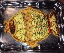 Tarte au saumon et courgette
