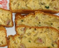 Cake olives vertes courgettes