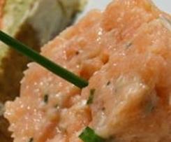 Tartare aux deux saumons