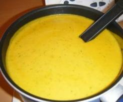 Soupe potimarron carottes et courgettes