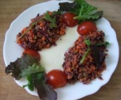Chou rouge en salade.