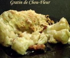 Gratin de Chou-Fleur aux lardons