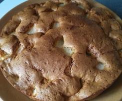 Gâteau aux pommes vanille