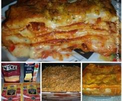 Lasagnes cheddar chorizo