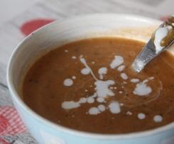 Soupe de tomates et champignons