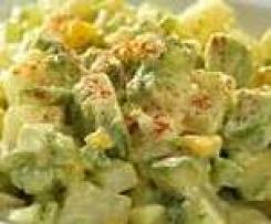 Salade pommes de terre crevettes avocats
