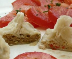 DimSum farcis de poulet;poivrons champignons et gingembre