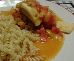 Calamars aux curry et raisin de corinthe