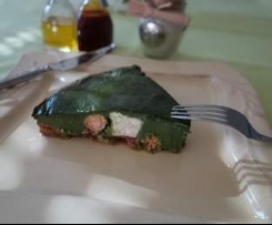 Flan épinards saumon chèvre