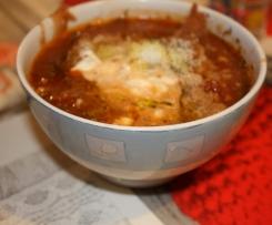 Soupe tomates champignons au madère