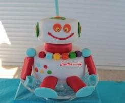 Gâteau robot / Sweet table anniversaire Robot Recette pour allergique à l'oeuf ou pas !