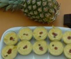 Mousse ananas sur mousse chocolat